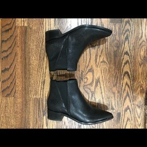Marc Fisher Shoes - Marc Fisher LTD Black Snake Print Yale Booties